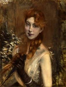 G. Boldini Donna con treccia