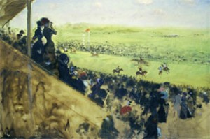 G. De Nittis Le corse a Longchamps