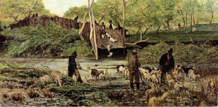 G. Fattori Il salto delle pecore