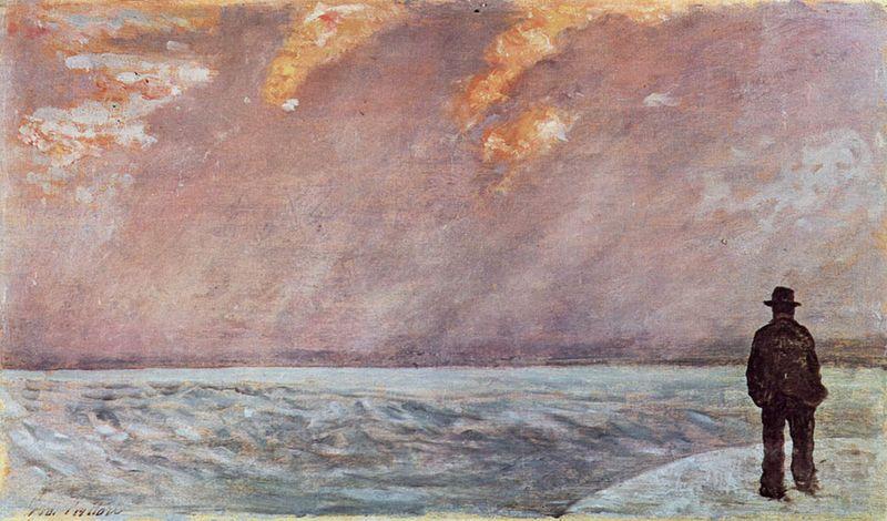 G. Fattori Tramonto sul mare
