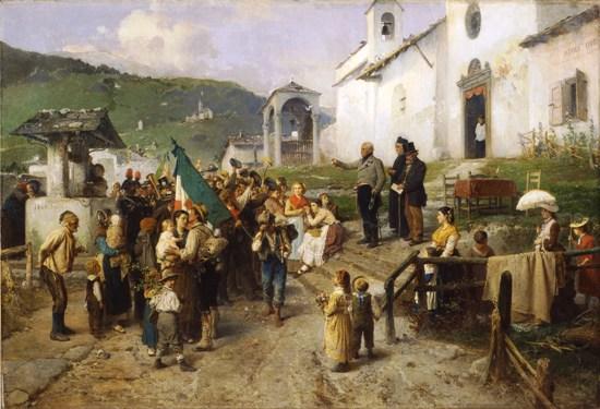 G. Induno La partenza dei coscritti nel 1866