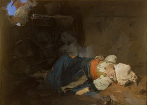 G. Induno Trasteverina uccisa da una bomba