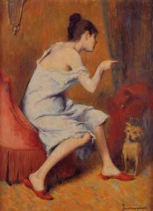 F. Zandomeneghi Ragazza con cane