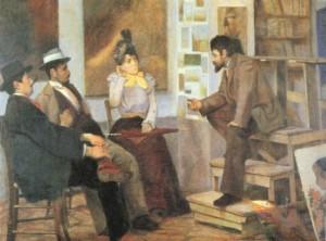 L. Lloyd Lo studio del pittore Micheli