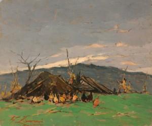 G. Lomi Paesaggio rustico