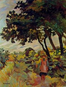 M. Puccini Bambina nei campi